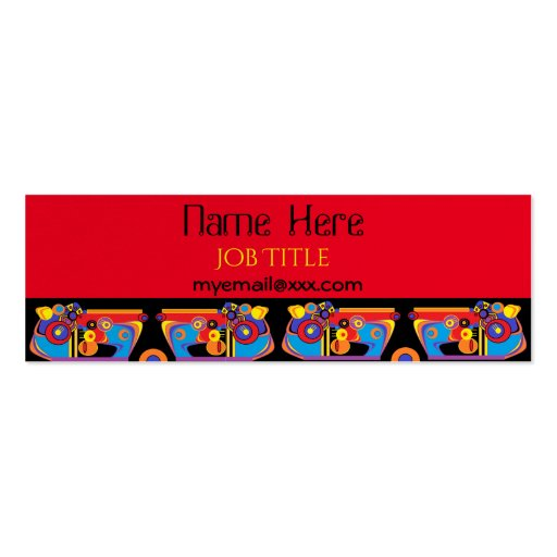Red black artsy business card zazzle for Artsy business cards
