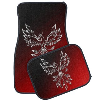 Red Black Ashes and Phoenix Car Floor Mat