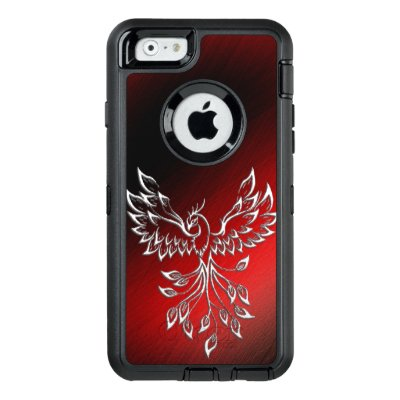 Red Black Ashes and Phoenix OtterBox iPhone Case