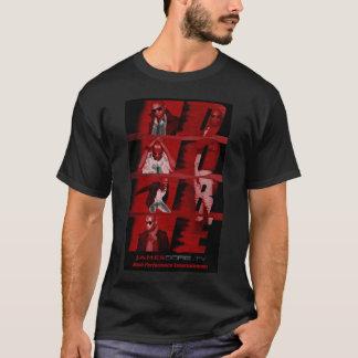 RED Black backdrop James Dore' Mens T-Shirt