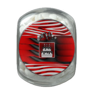 Red Black Balloons Birthday Jelly Belly Candy Jars