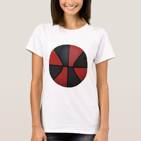 Red & Black Basketball: T-Shirt