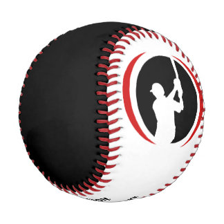 Red Black Batter Personalized Baseball