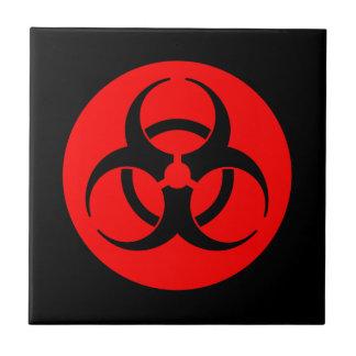 Red & Black Biohazard Tile
