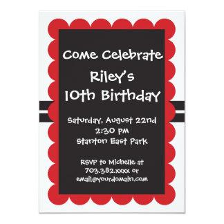 Red Black Birthday Party Invitations Templates Boy
