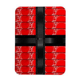 Red Black Bling Magnet