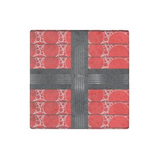 Red Black Bling Stone Magnet