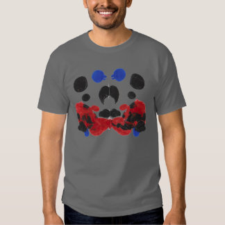 Red, Black & Blue Rorschach on D Grey Tee