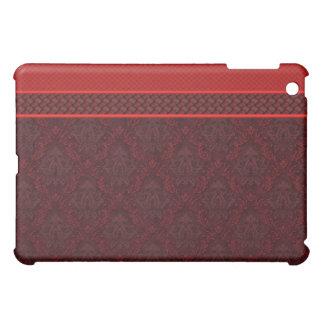 Red Black Brocade Designer  Case For The iPad Mini