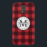 "Red black Buffalo Plaid Lumberjack Name Monogram Case For Galaxy S5<br><div class=""desc"">Red black Buffalo Plaid Lumberjack Name Monogram Samsung Galaxy S5 Case Just for you.</div>"