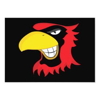 RED BLACK CARDINAL BIRD MASCOT GRAPHIC ATTITUDE CARD