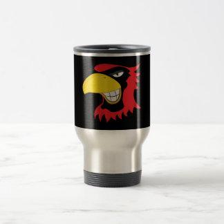 RED BLACK CARDINAL BIRD MASCOT GRAPHIC ATTITUDE MUG