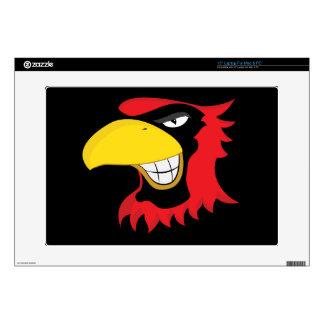 RED BLACK CARDINAL BIRD MASCOT GRAPHIC ATTITUDE DECAL FOR LAPTOP