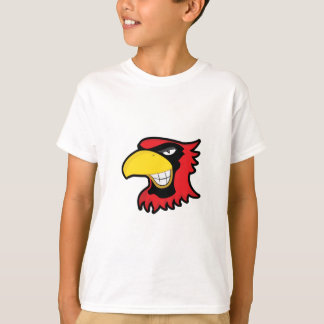 RED BLACK CARDINAL BIRD MASCOT GRAPHIC ATTITUDE T-Shirt