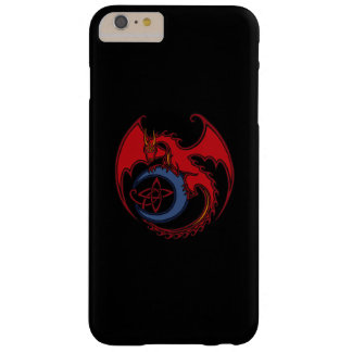 Red Black Celtic Dragon And Blue Moon Drawing Barely There iPhone 6 Plus Case
