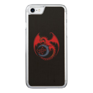 Red Black Celtic Dragon And Blue Moon Drawing Carved iPhone 7 Case