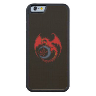 Red Black Celtic Dragon And Blue Moon Drawing Carved® Maple iPhone 6 Bumper Case