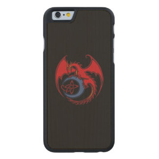 Red Black Celtic Dragon And Blue Moon Drawing Carved® Maple iPhone 6 Slim Case