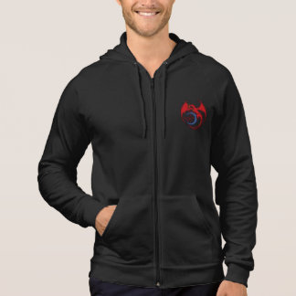 Red Black Celtic Dragon And Blue Moon Drawing Hoodie