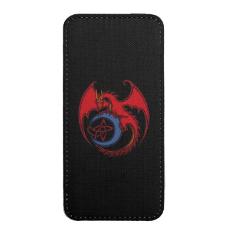 Red Black Celtic Dragon And Blue Moon Drawing iPhone SE/5/5s/5c Pouch