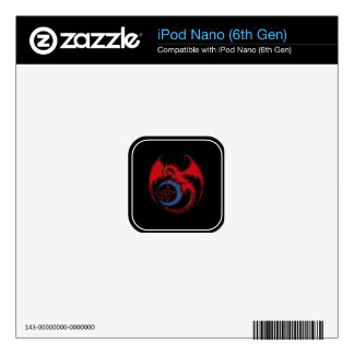 Red Black Celtic Dragon And Blue Moon Drawing Skin For iPod Nano 6G