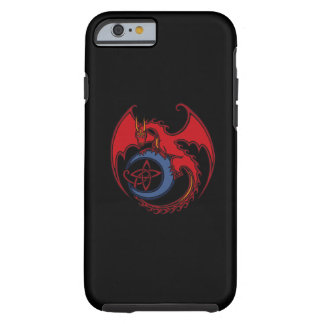 Red Black Celtic Dragon And Blue Moon Drawing Tough iPhone 6 Case