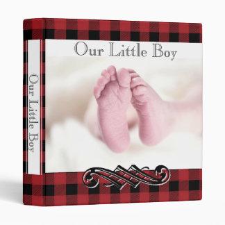 Red Black Check Plaid•Babies Feet•Custom• Binder