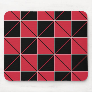 Red & Black Checkerboard Argyle Mousepad