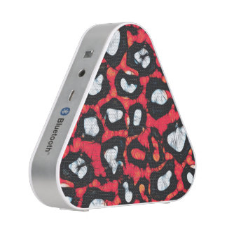 Red Black Cheetah Abstract Bluetooth Speaker