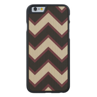 Red Black Chevron Carved® Maple iPhone 6 Case