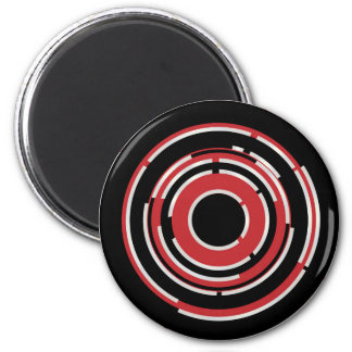 Red Black Circular Abstract Background Magnet