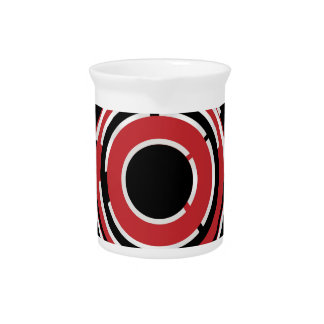 Red Black Circular Abstract Background Pitcher