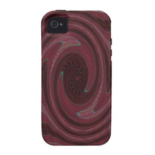 red black circular abstract Case-Mate iPhone 4 cover