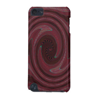 red black circular abstract iPod touch (5th generation) case