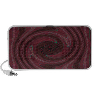 red black circular abstract notebook speaker