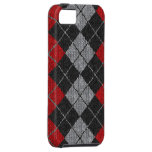 Red & Black Comfy Argyle Look iPhone 5 Case