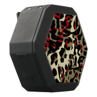Red Black Cream Cheetah Abstract Black Bluetooth Speaker