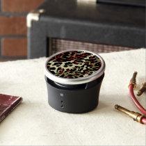 Red Black Cream Cheetah Abstract Bluetooth Speaker