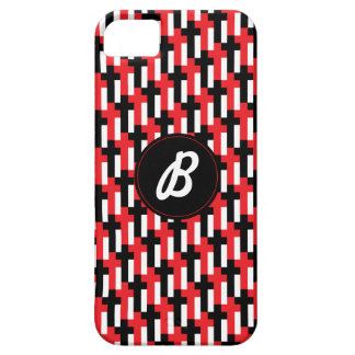 Red & Black Cross Pattern - customizable iPhone 5 Covers