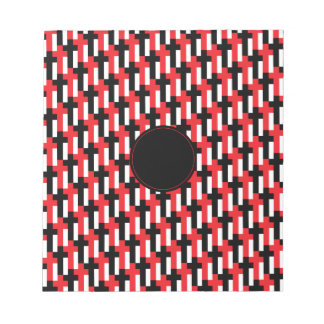 Red Black Cross Pattern with customizable area Scratch Pads