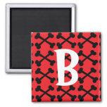 Red & Black Crossbones Magnets