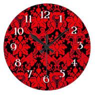 Red/ Black Damask Clocks