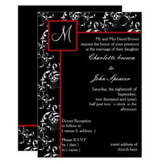 red and black wedding invitations black wedding invitations amp announcements zazzle 6992