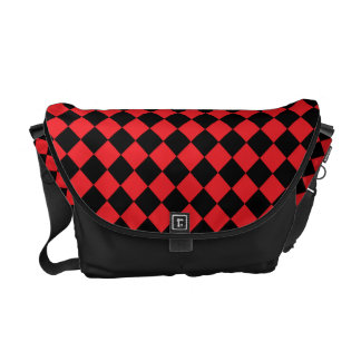 red black diamond patterns courier bags