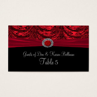 Red & Black Draped Baroque Table Business Card