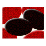 Red & Black Easter Eggs Postcard