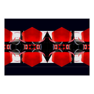 Red & Black Extreme Design Poster 1 CricketDiane