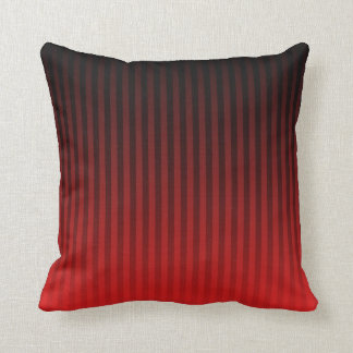 Red/Black Faded Stripes Throw Pillow