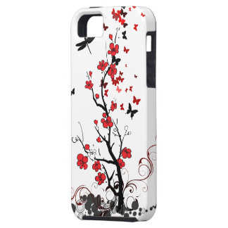 Red & Black Flowers iPhone 5 Case