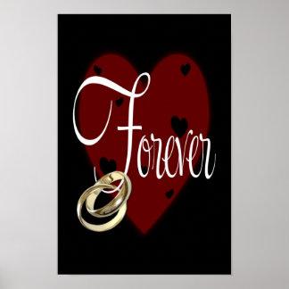 Red & Black Forever Poster